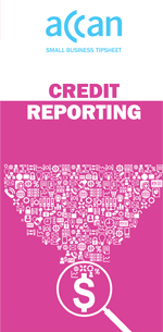 Credit reporting tipsheet cover