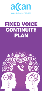 Cover image of the fixed voice continuity plan