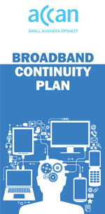 Cover of Broadband Continuity Plan tipsheet