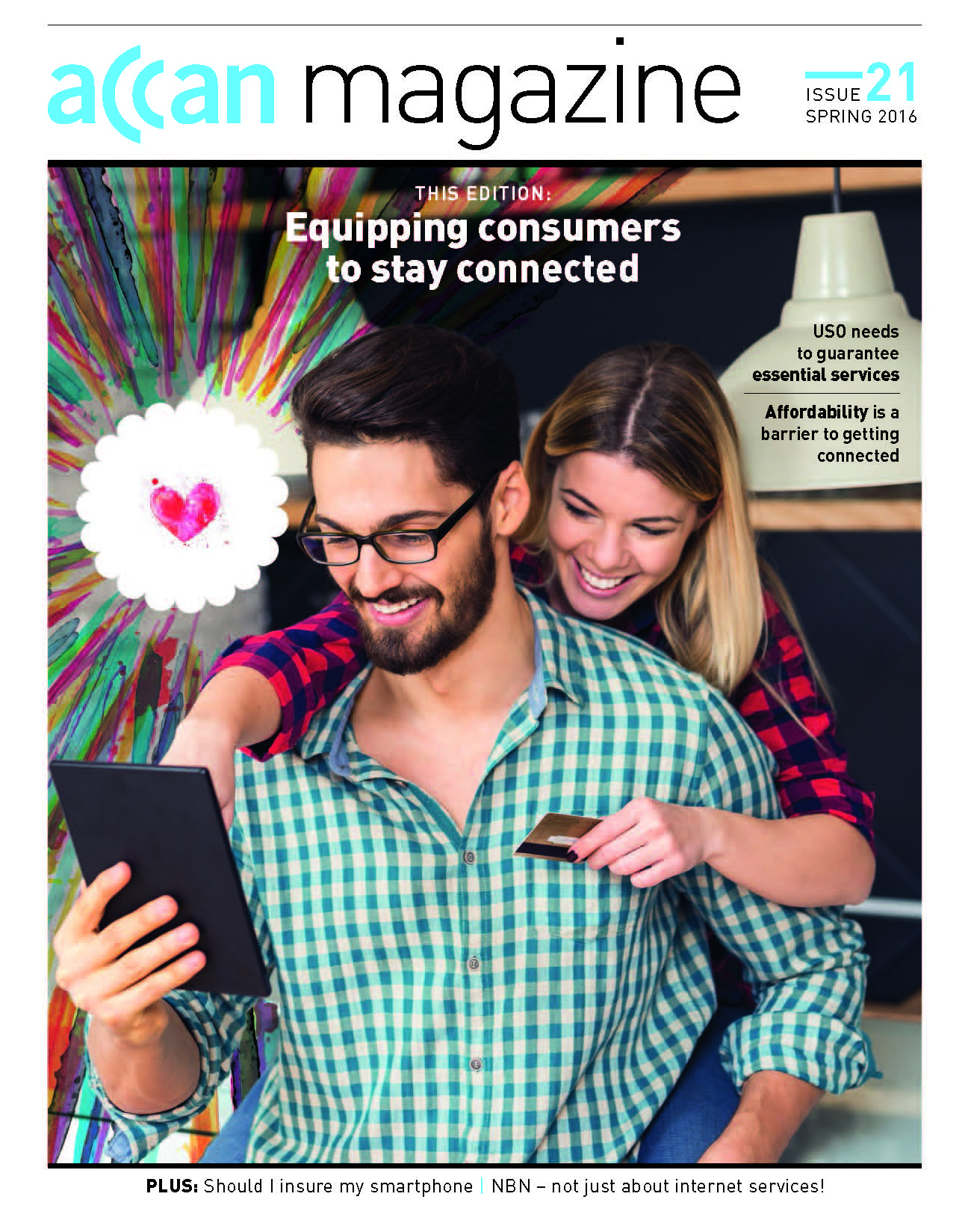 Equipping consumers to stay connected magazine cover