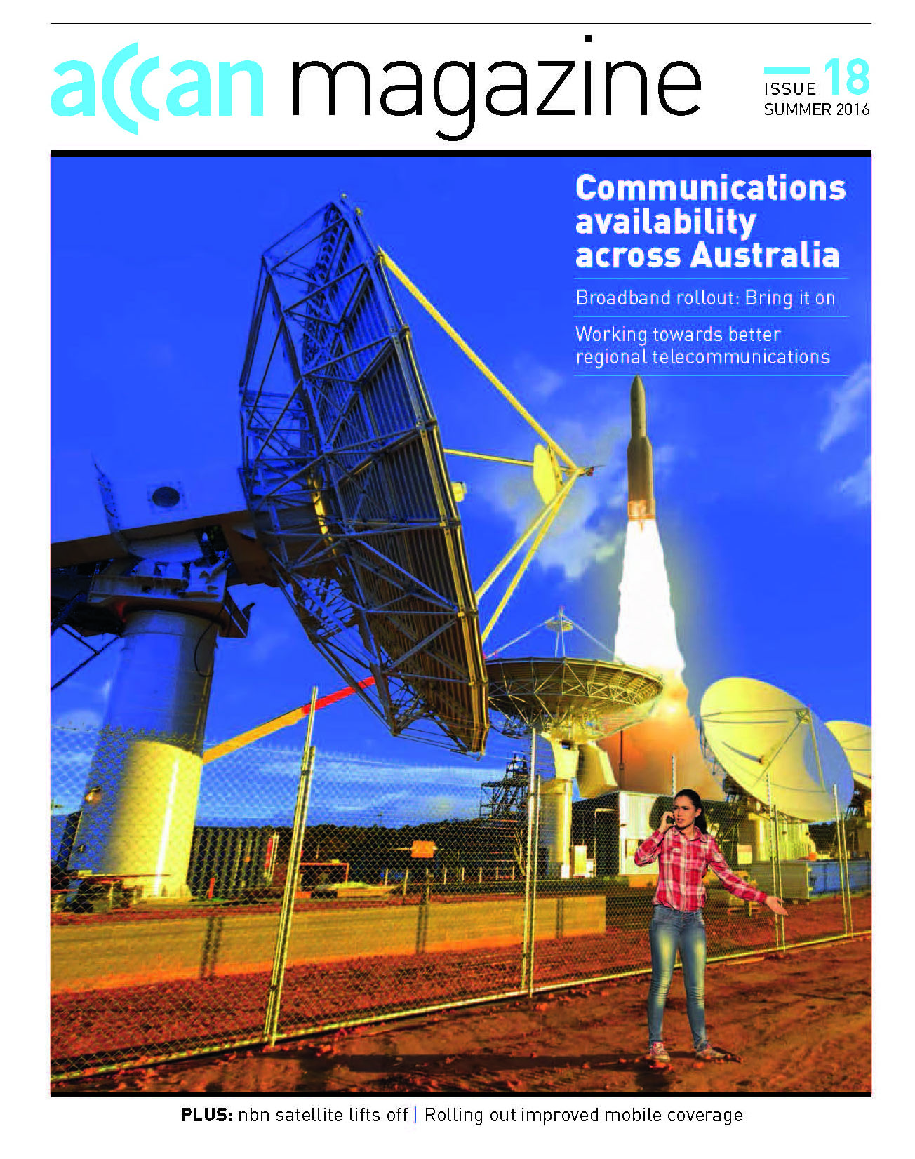 Communications availability across Australia cover