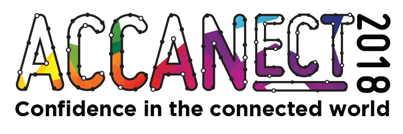 ACCANect 2018 Logo: Confidence in the connected world