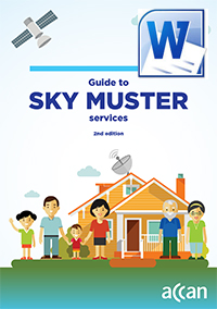 SkyMuster Cover: Download the Accessible word version.