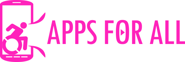Apps for all logo - horizontal pink