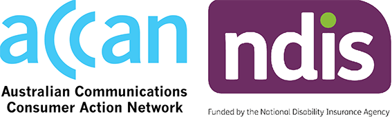 ACCAN and NDIS joint logo