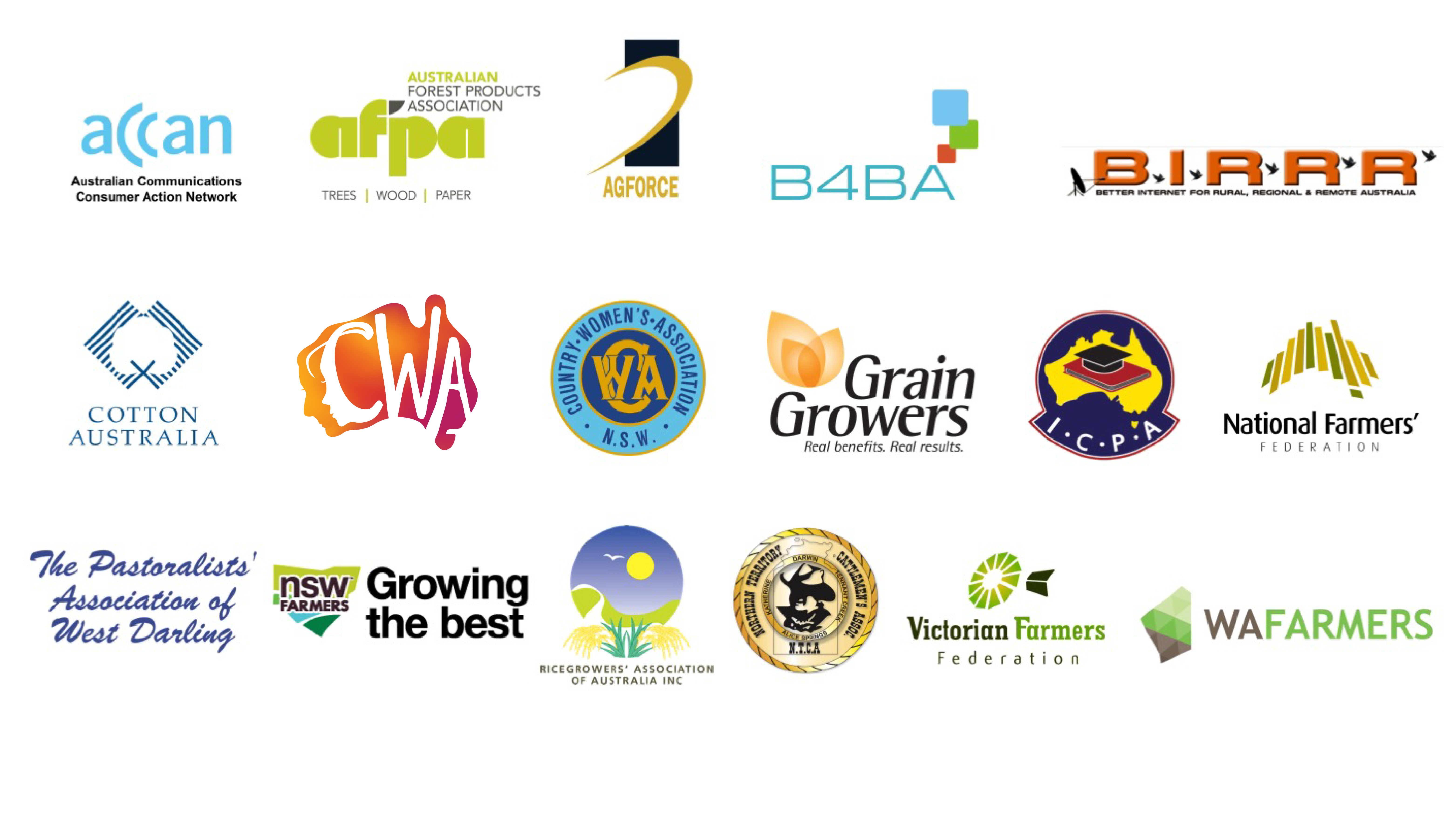 Coalition partner logos