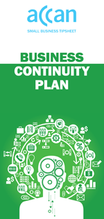 Cover image of the business continuity plan tipsheet