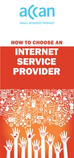 Front cover image of the tipsheet How to Choose an Internet Service Provider