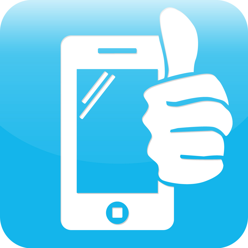 App Icon for My Phone Rights - Shows phone with thumbs up [Click to read full article]