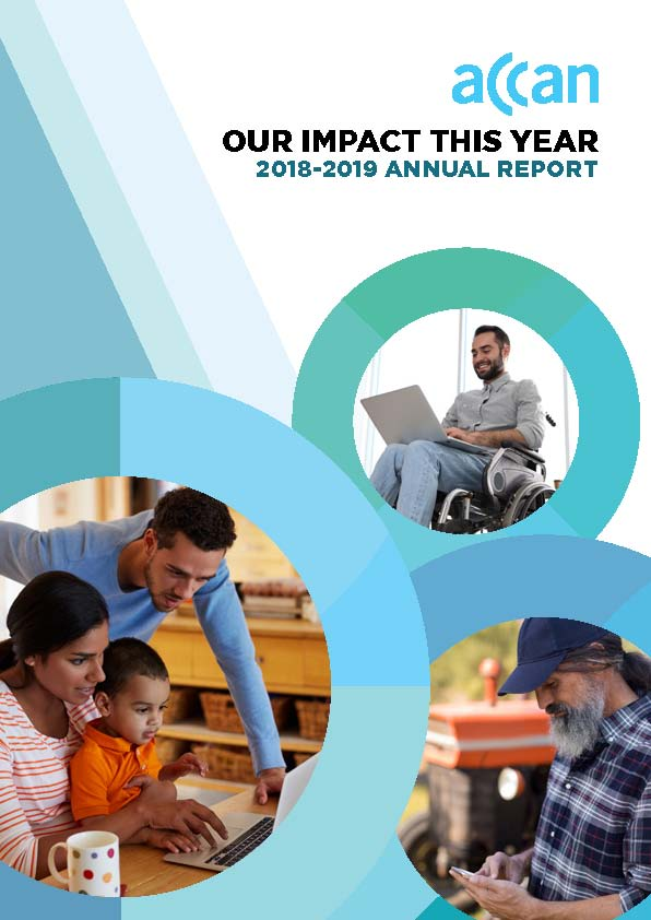 ACCAN AnnualReport 2018-19 cover