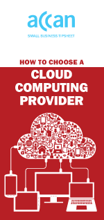 Picture showing cover of How to choose a cloud provider tipsheet