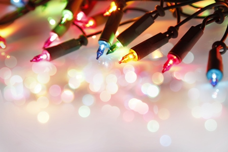 Close-up of Christmas lights