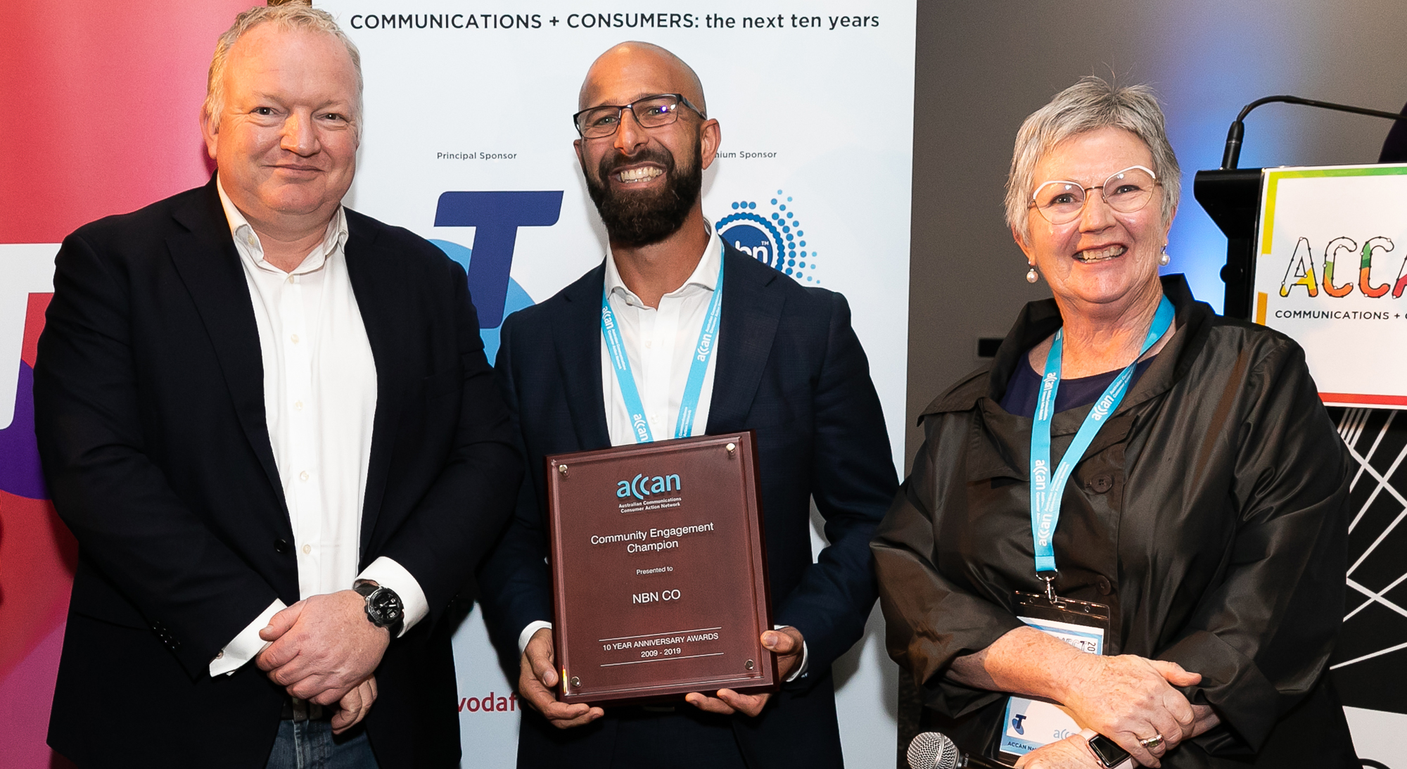NBN Co receiving Community Engagement Champion award