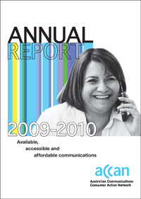 Picture of 2009-10 Annual Report cover